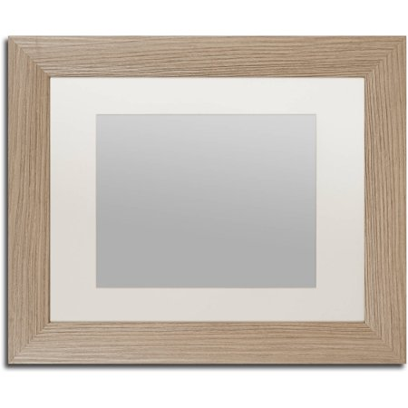 Trademark Fine Art Heavy-Duty 11x14 Birch Wood Picture Frame with ...