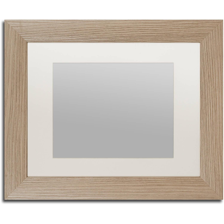 Trademark Fine Art Heavy-Duty 11x14 Birch Wood Picture Frame with 8x10 White Mat