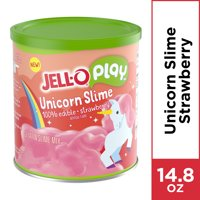 Jell-O Play Slime Making Kit, Unicorn Strawberry, 14.8 oz Mix