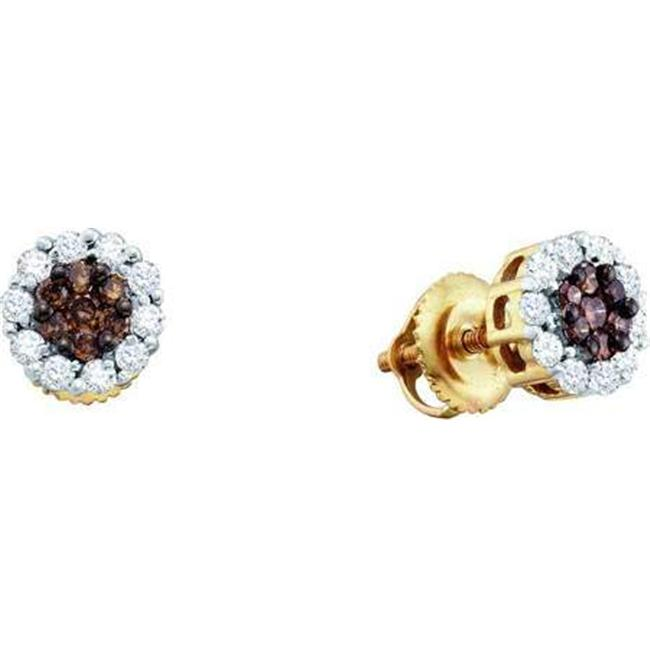 Gold and Diamonds FER579DB 1. 0CT-DIA FLOWER EARRING- Size 7