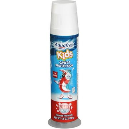 Aquafresh Enfants Dentifrice Bubble Mint pompe 4,60 oz (Pack de 4)