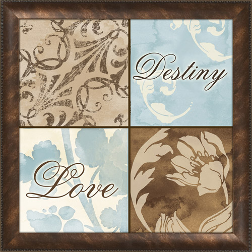 PTM Images Floral Love Typography Framed Art