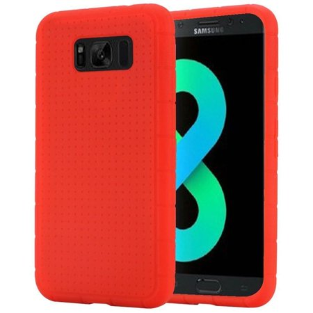 Red Samsung Telephone - insten Rugged Rubber Silicone Soft Skin Gel Case Phone Cover For Samsung Galaxy S8 Plus S8+, Red