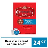 Community Coffee Breakfast Blend Single-Serve Coffee Pods, Medium-Dark Roast, 24 Count Box Compatible with Keurig 2.0 K-Cup Brewers