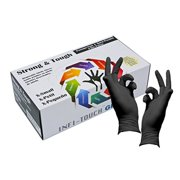 Infi-Touch Heavy Duty Nitrile Gloves, Strong & Tough, Disposable Gloves, Powder-Free, Non Sterile, Ambidextrous, Finger Tip Textured, Dispenser Pack of 100, Size Large.
