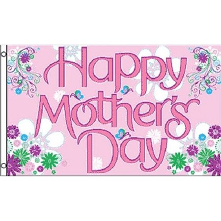 Happy Mothers Day Flag Indoor Outdoor 3' by 5' Decoration for Mom Large 3x5 - Flag Decoration Ideas
