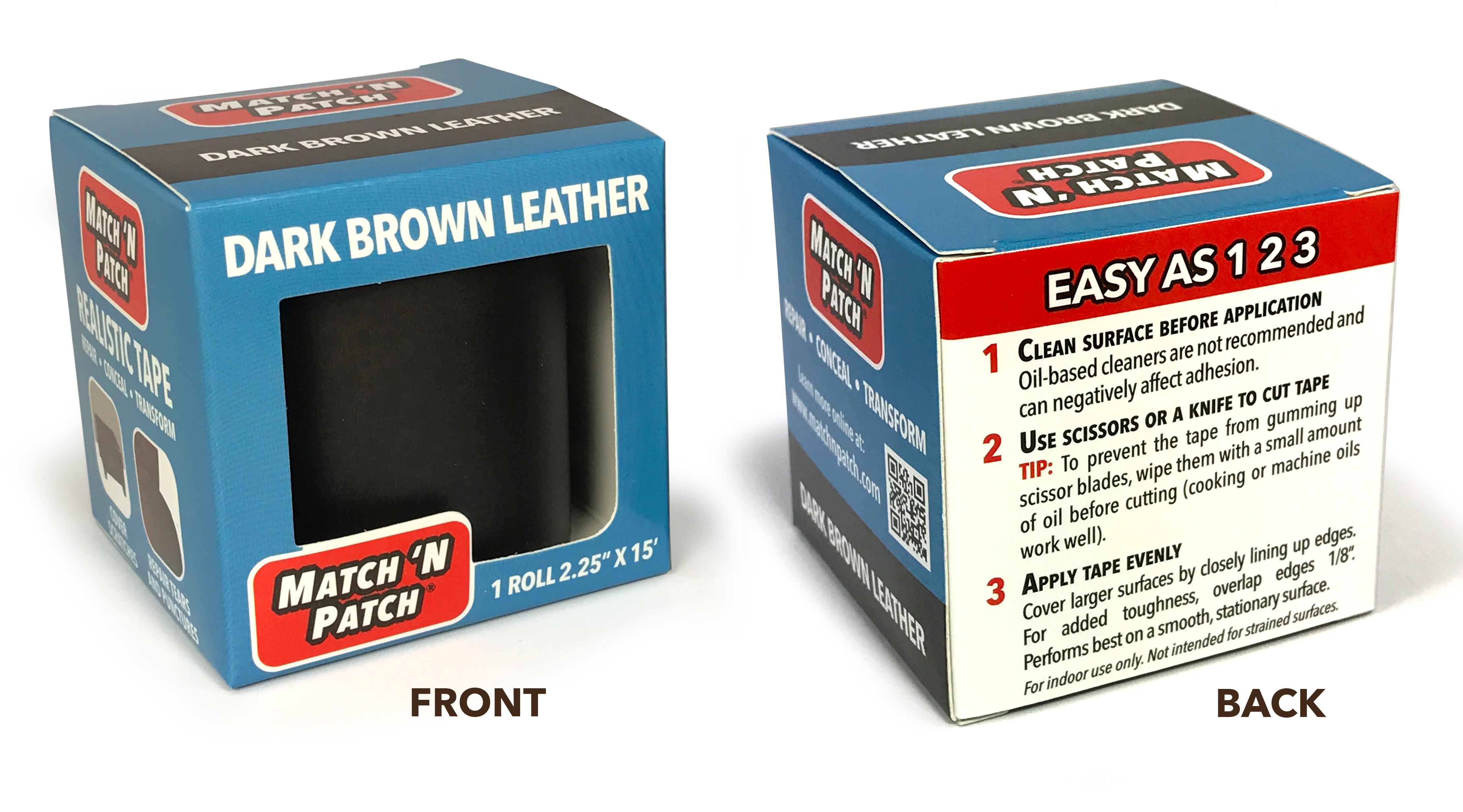 Match N Patch Dark Brown Leather Repair Tape 2 25 In X 15 Ft Walmart Com Walmart Com