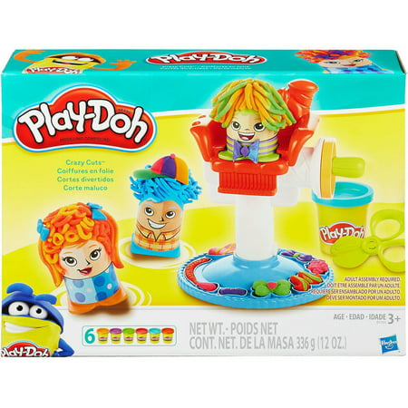 Play-Doh Crazy Cuts Hair Set with 6 Cans of Dough