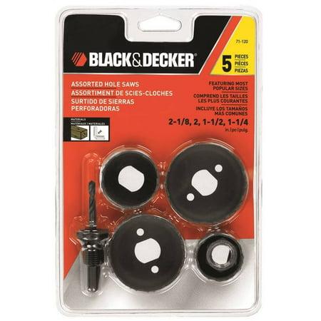 Black & Decker 71-120 General Purpose Assortment Hole Saw Set, 5 Pieces - image 1 de 1