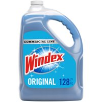 Windex Commercial Line Glass Cleaner Refill, Blue Original, 128 fl oz