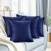 """Pack of 4 Velvet Throw Pillow Covers Decorative Soft Square Cushion Cover , 26"""" x 26"""""""