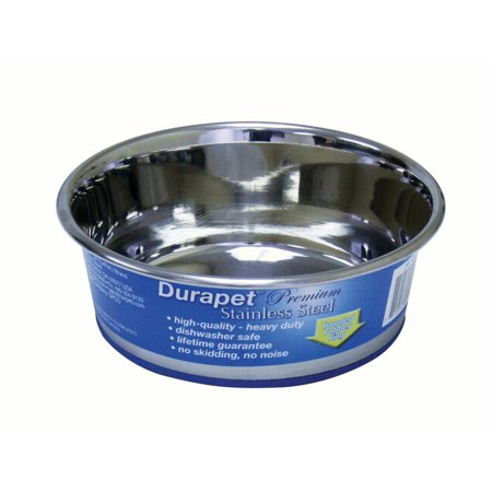 Ourpets Company-Durapet Stainless Steel Bowl- Stainless Steel 1.2 (Durapet Bowl)