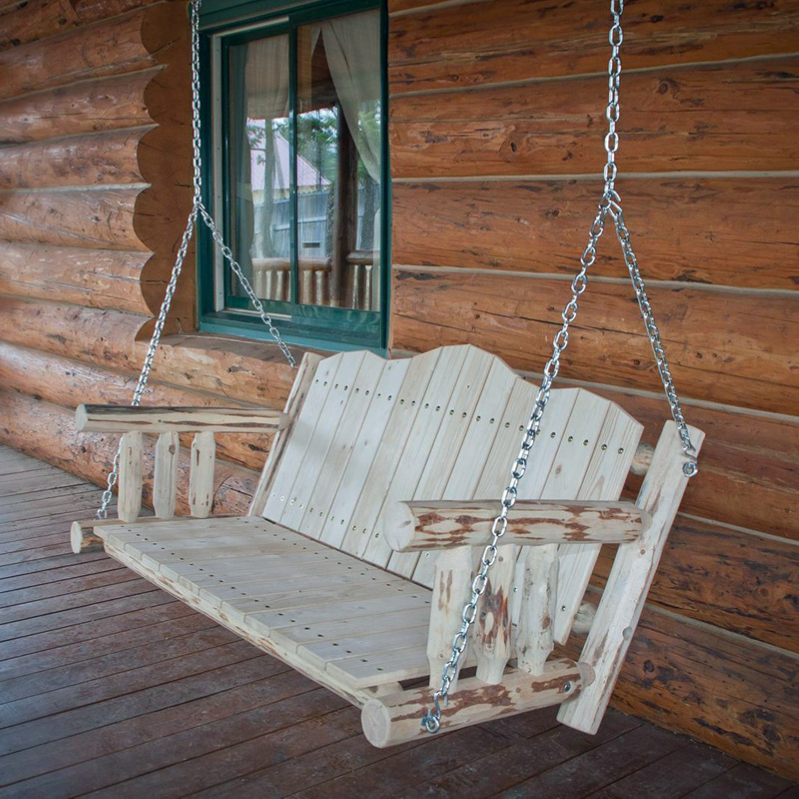 Montana Woodworks 4 ft. Porch Swing with Chains by Montana Woodworks