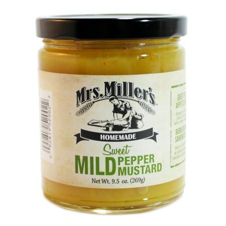 Mild Yellow Mustard - Mrs. Miller's Sweet Mild Pepper Mustard 9.5 oz. (3 Jars)
