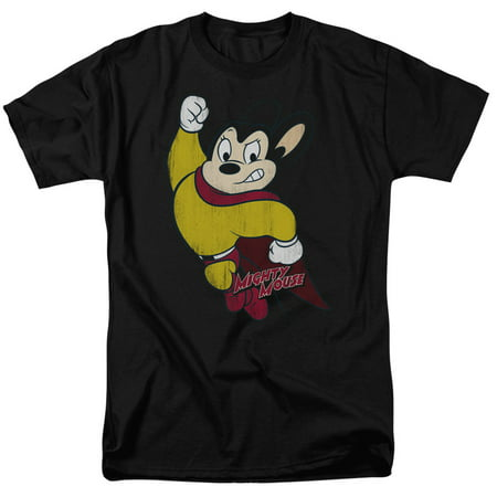 Mighty Mouse/Classic Hero S/S Adult 18/1   Black     Cbs672