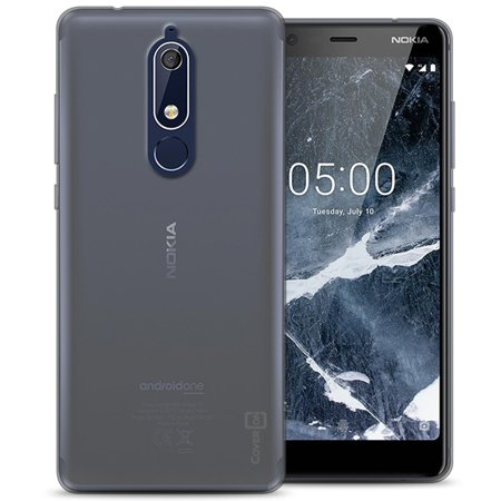 wholesale dealer 3853b 5d4a9 CoverON Nokia 5.1 (2018) Case, FlexGuard Series Soft Flexible Slim Fit TPU  Phone Cover