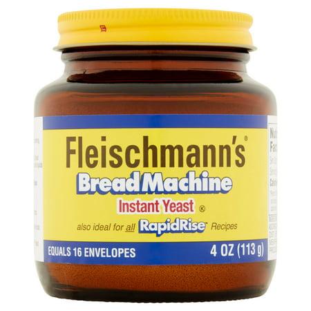 Sweet Yeast Breads - (2 Pack) Fleischmann's Bread Machine Yeast 4 oz