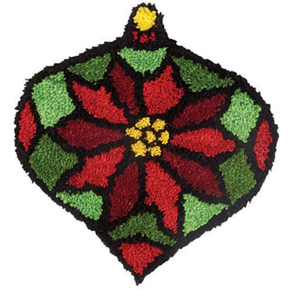 Craftways Stained Glass Poinsettia Latch Hook Kit