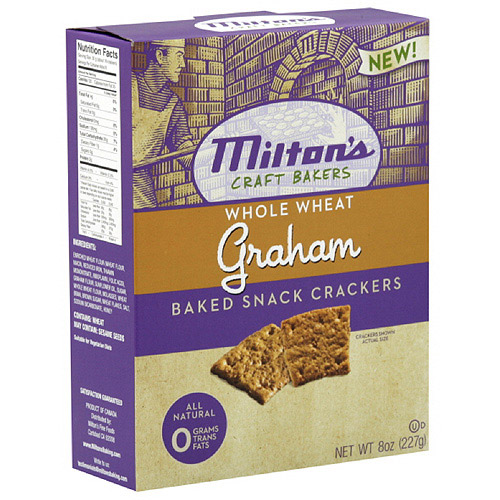 Milton's Whole Wheat Graham Baked Snack Crackers, 8 oz  (Pack of 12)