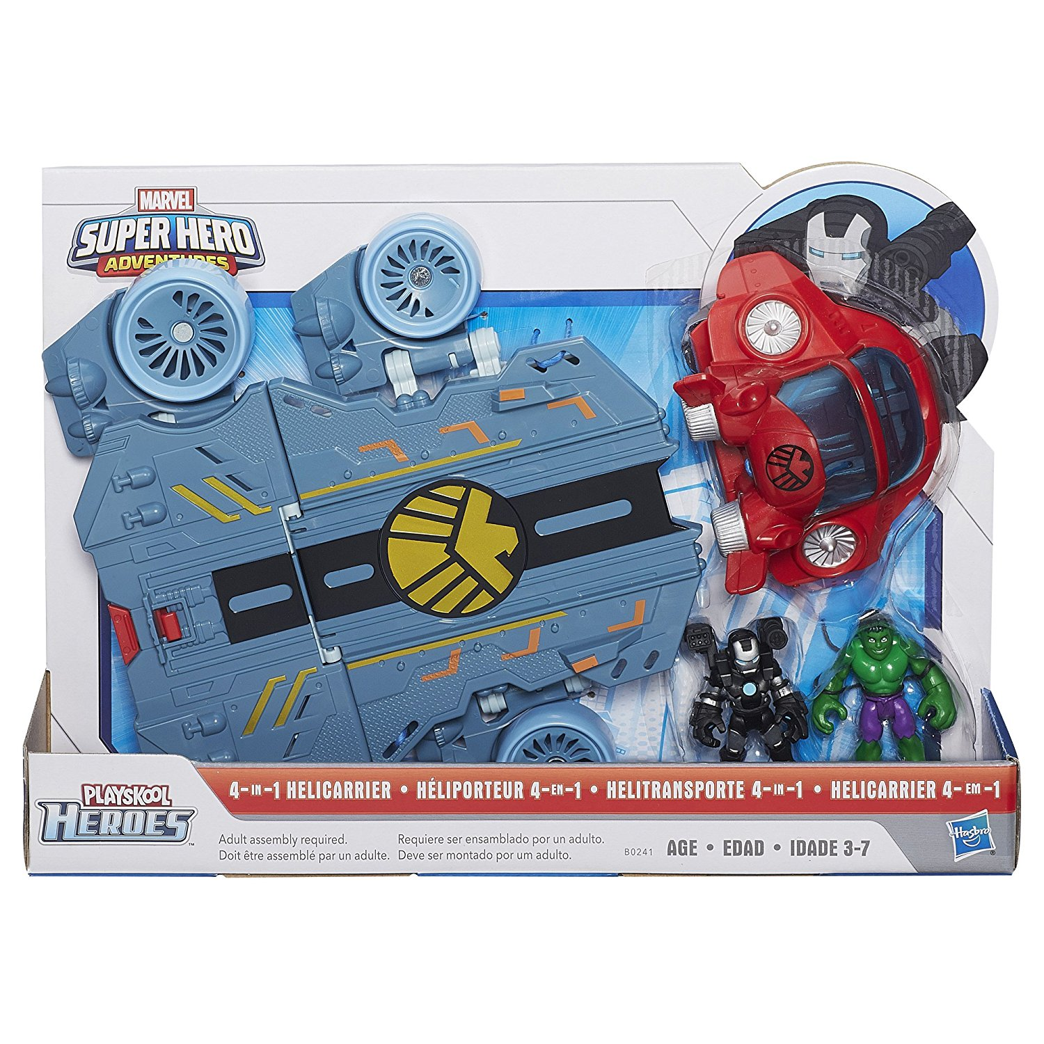 Heroes Marvel Super Hero Adventures Helicarrier Vehicle with War Machine Figure... by