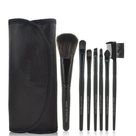 Pro 7pcs Professional Travel Cosmetic Makeup Brushes Set Powder Foundation Eyeshadow Eyeliner Lip Cosmetic with Pouch Bag
