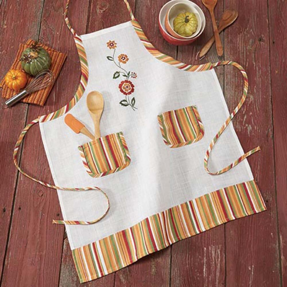 Nob Hill Fall Festival Apron Stamped Embroidery Kit
