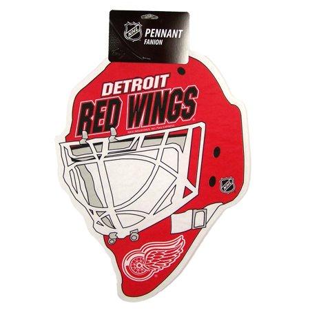 Detroit Red Wings Official NHL 15 inch x 12 inch Helmet Die Cut Pennant by Rico Industries