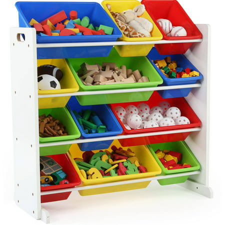 Toy Organizer - Summit Collection - White/Primary - Tot Tutors