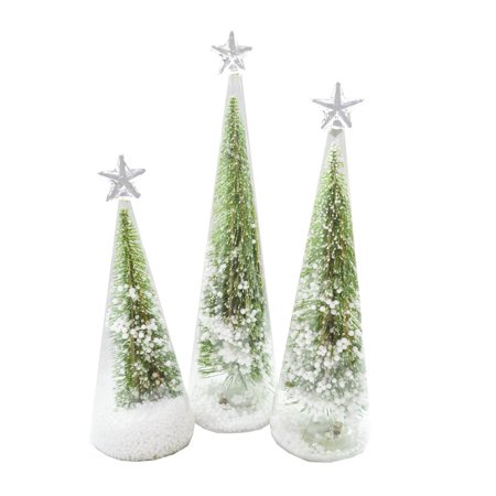 Napco - LED Green Christmas Tree - Set of 3 ()