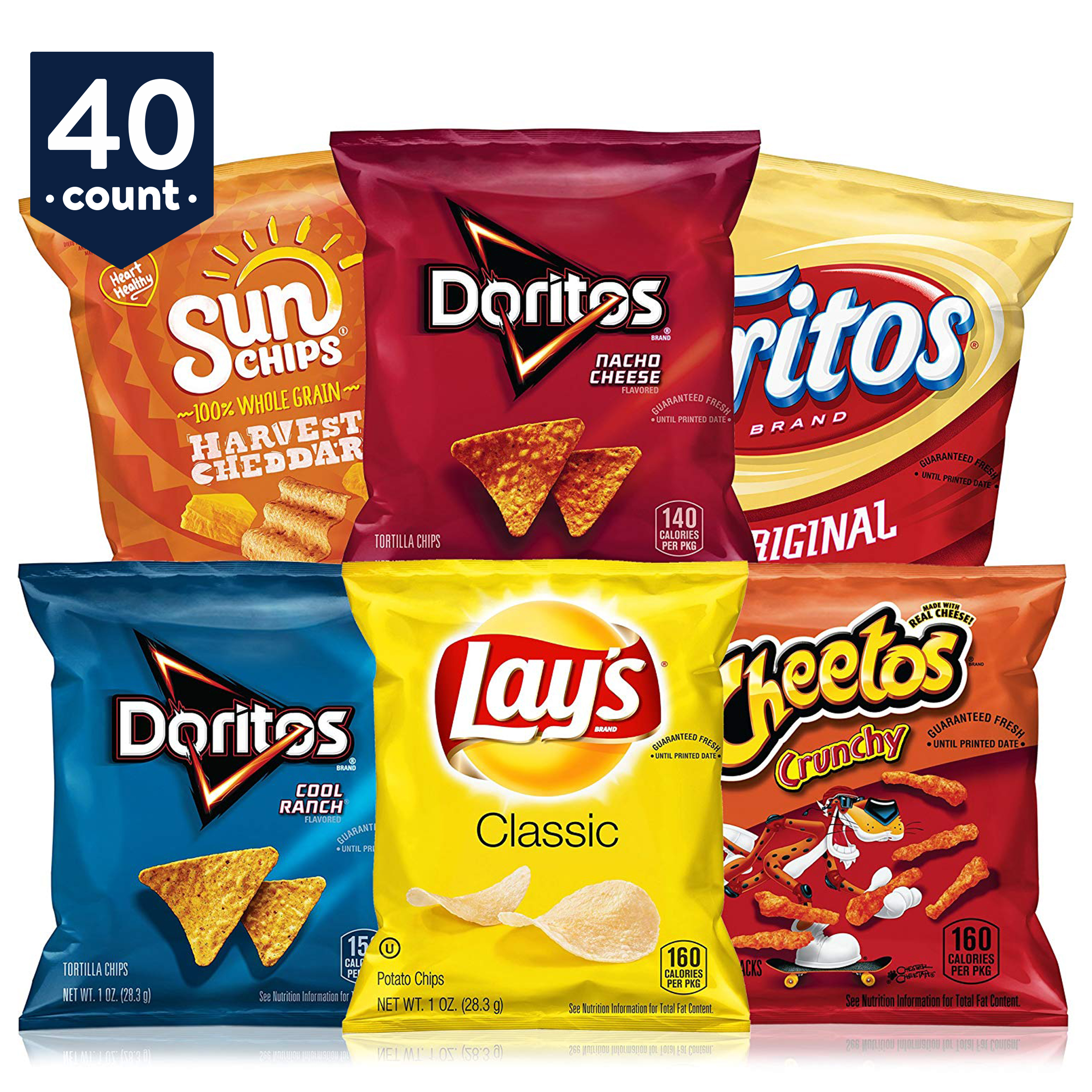 Frito-Lay Classic Mix Variety Pack, 40 Count
