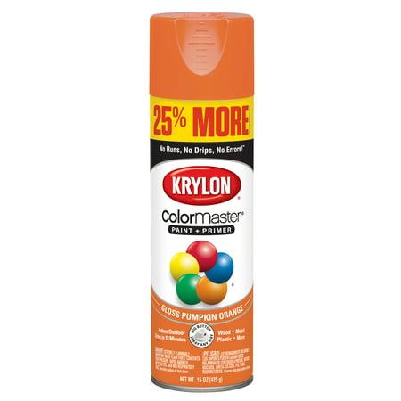 Paint A Pumpkin Kit (Krylon® ColorMaster Paint + Primer Gloss Pumpkin Orange,)