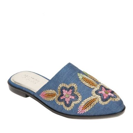- Kenneth Cole Women's Speed Floral Blue Mules - 7M