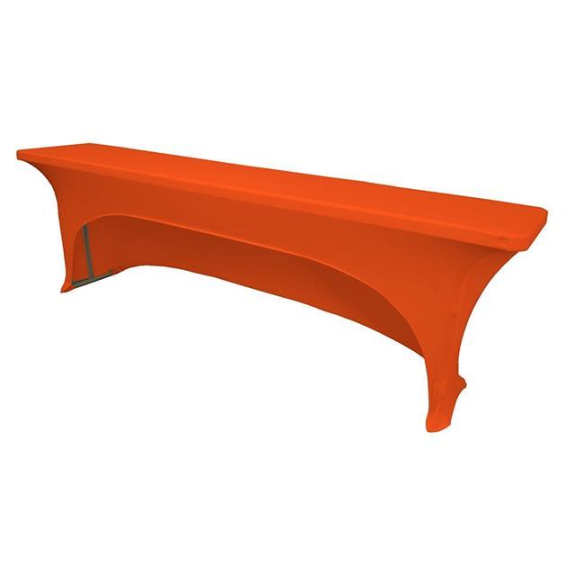 La Linen Tcspandex Ob96x18x30 Orangex48 Open Back Spandex Tablecloth