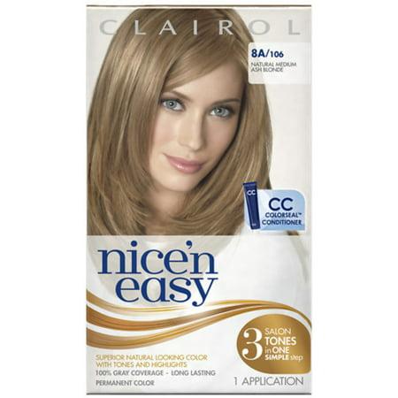 Nice 'n Easy Permanent Color, 8A/106 Natural Medium Ash Blonde 1 ea (Pack of (Nice N Easy Natural Medium Ash Blonde)