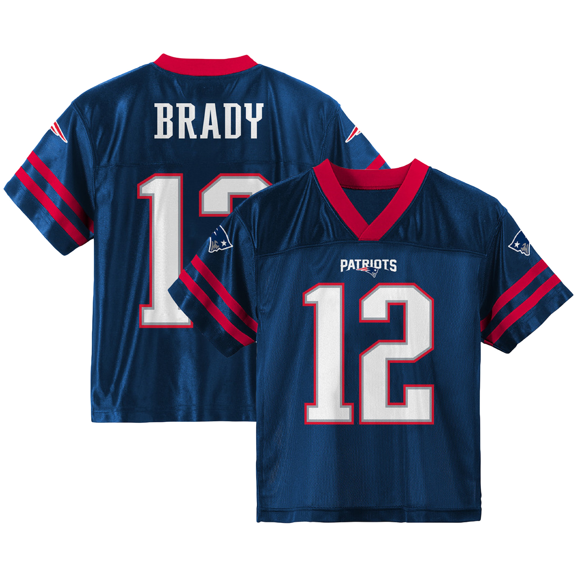 Toddler Tom Brady Navy New England Patriots Team Color Jersey