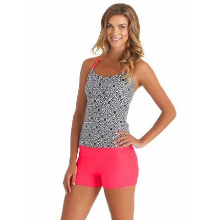 ELEOPTION Women's Fashion 2 Piece Sport Monokini Beachwear Swimsuit Set, Sport Style Plus Size, S-XXXL - Trendy Monokini