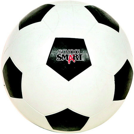 School Smart Natural Rubber Size 4 Soccer Ball ( Black and (Black & White Ball)