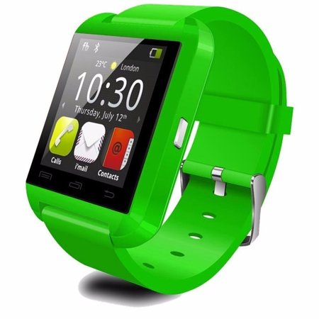 Premium Green Bluetooth Smart Wrist Watch Phone mate for Android Samsung HTC LG Touch Screen Blue Tooth Smart Watch for Kids for Adults Amazingforless U8 ()