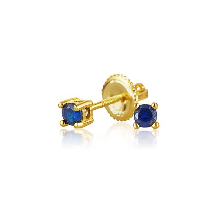 walmart earrings studs bling jewelry 925 silver simulated sapphire cz stud 6661