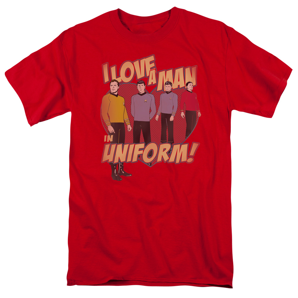 Star Trek/Man In Uniform S/S Adult 18/1   Red     Cbs645