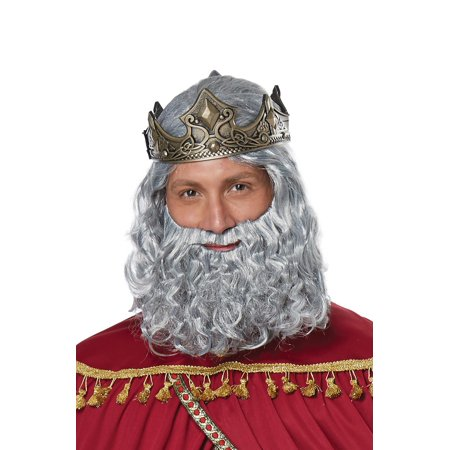 Biblical King Adult Wig and Beard (King Wig)