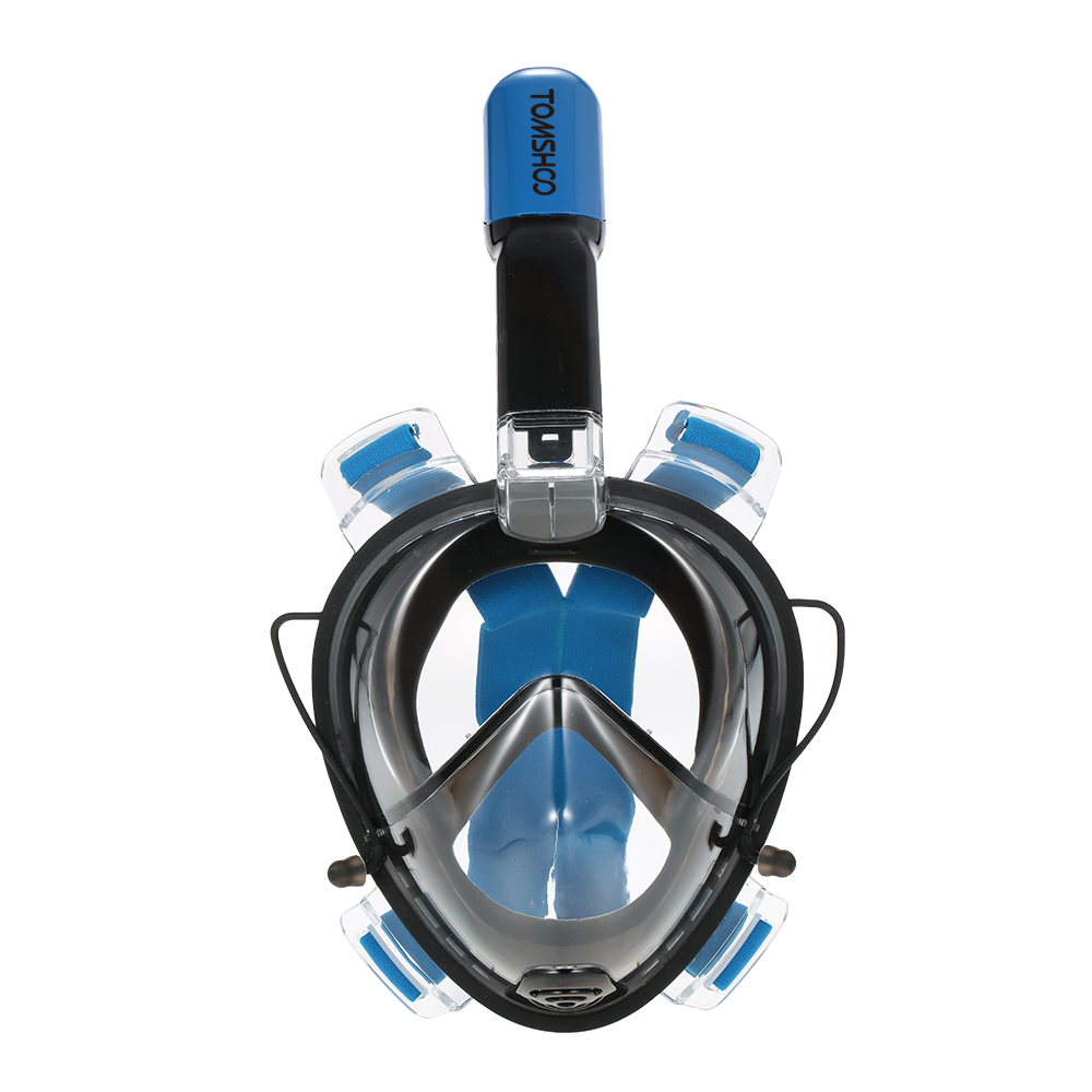 TOMSHOO 180� Full Face Adult Swimming Diving Snorkel Mask Anti-fog by
