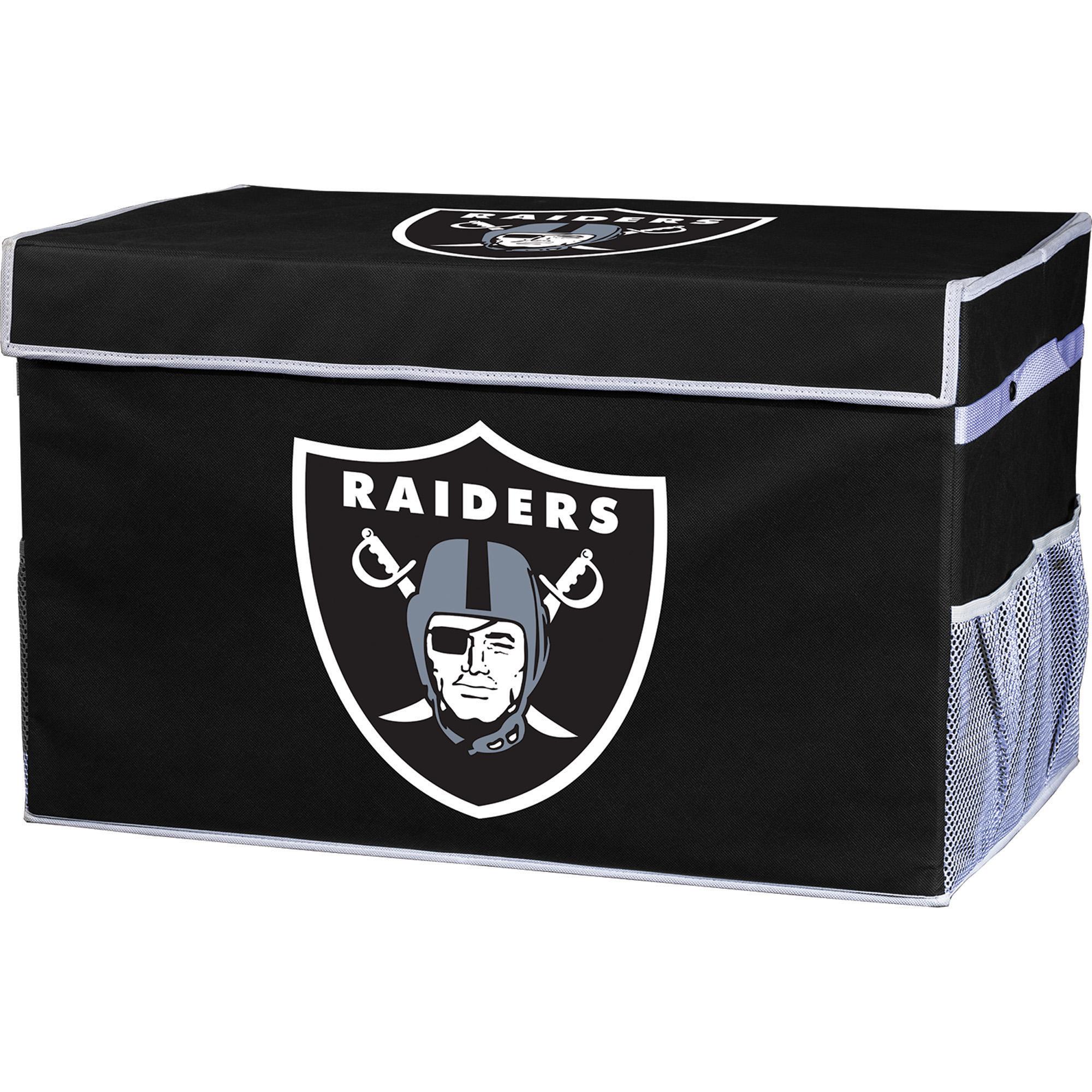Franklin Sports NFL Oakland Raiders Collapsible Storage Footlocker Bins - Small
