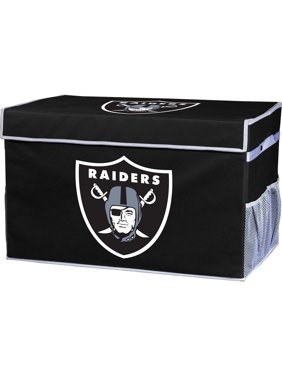 Franklin Sports NFL Oakland Raiders Collapsible Storage Footlocker Bins - Small