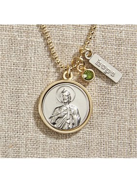 089949169c1 Product Image WC067s Vintage Blessings St. Jude Necklace