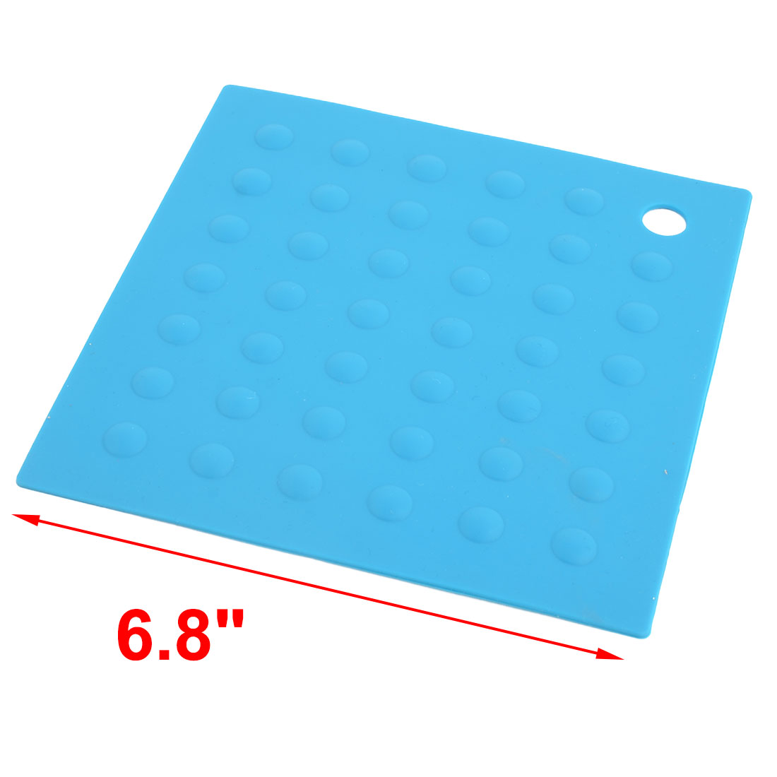 Silicone Square Heat Resistant Bowl Plate Mat Table Protection Pad Teal Blue - image 1 of 4