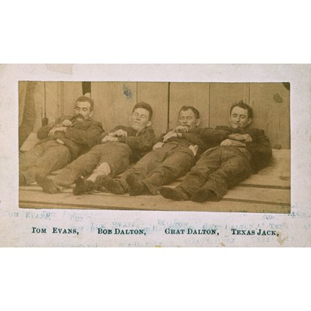 Dalton Gang 1892 Nthe Bodies Of William Powers  Aka Tom Evans  Robert Dalton His Brother Gratton Dalton And Dick Broadwell  Aka Texas Jack  Who Were Killed In Their Ill Fated Attempt To Rob Two Banks