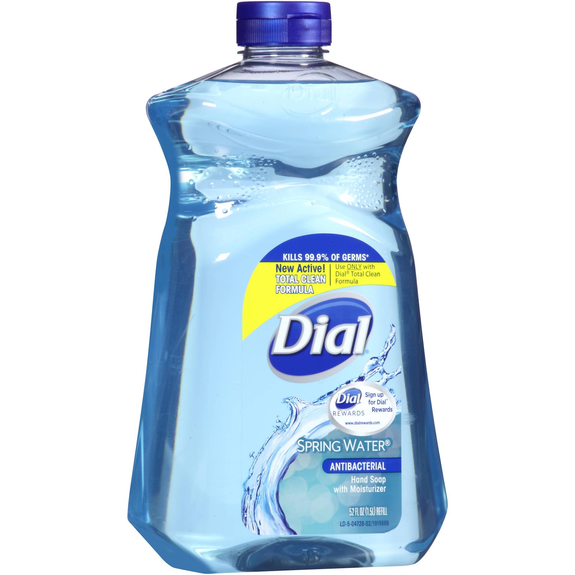 Dial Antibacterial Spring Water Hand Soap, 52 fl oz