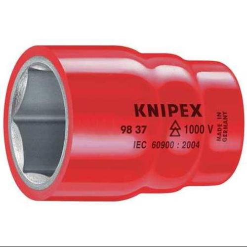 KNIPEX 98 37 14 Socket,3/8 in. Dr,14mm Hex G7196603
