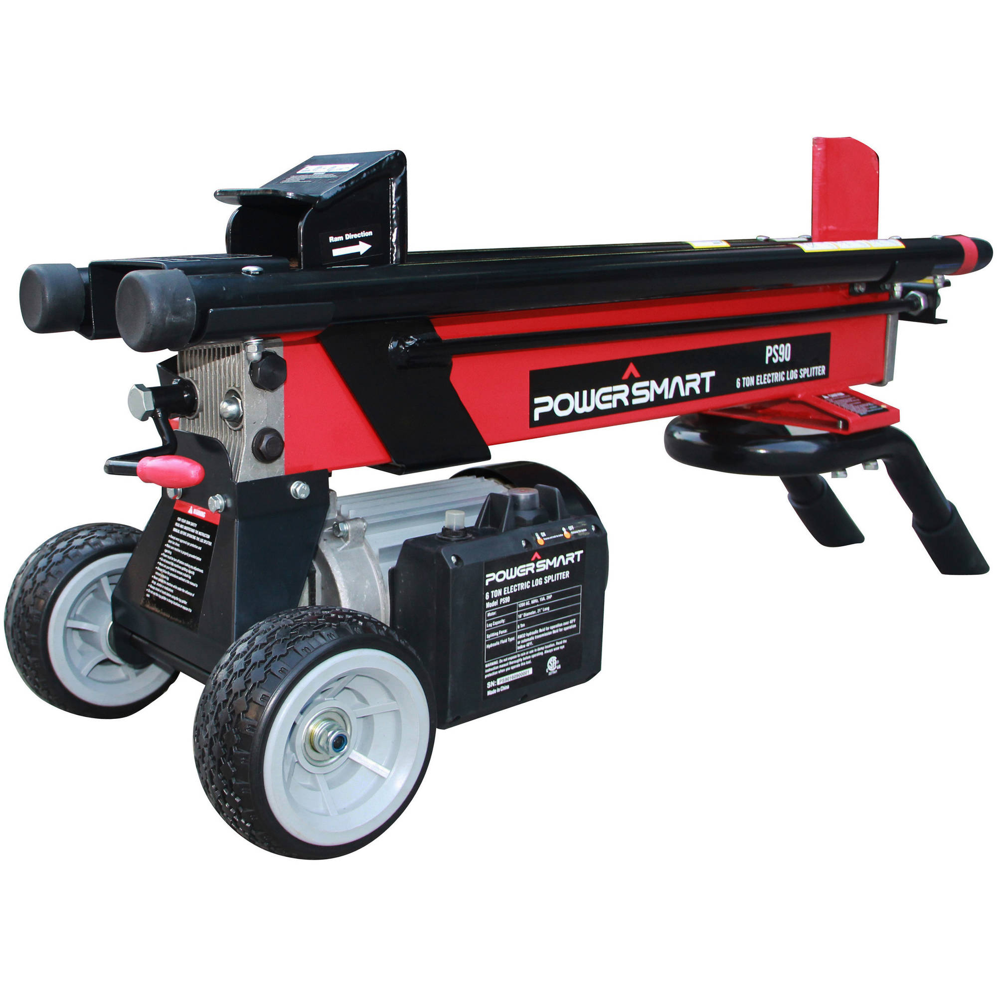 Power Smart PS90 6 Ton 15 Amp Electric Log Splitter by Log Splitters